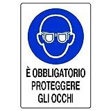 Cartelli prescrizione Pubblicentro - alluminio - 30x20 cm - proteggere gli occhi - 01802100ALB0300X0200