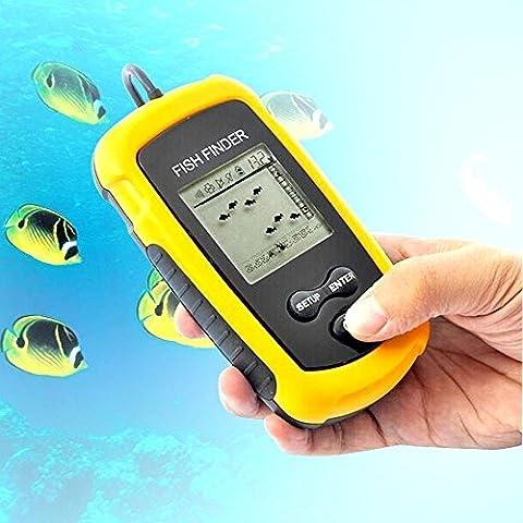 Top Quality Fish Finder Portable Sonar Cablato LCD Fish Finder di profondità Allarme 100 M AP Elettronico Attrezzatura Da Pesca