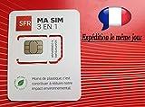 PA83® Carte SIM SFR prépayée sans engagement 10 euros de crédit offert