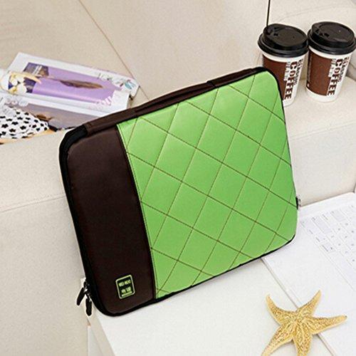 Preisvergleich Produktbild spritech (TM) Computer Travel mit Aufbewahrung Tasche Cover mit Reißverschluss und tragbar Gürtel,  grün,  25, 4 cm