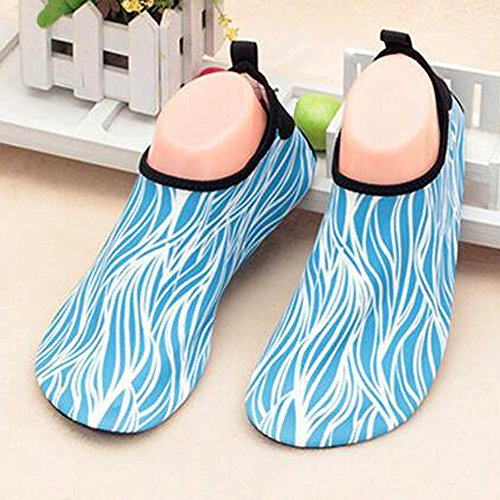 ALSYIQI Barefoot Shoes Men Women Quick-Dry Water Shoes Lightweight Aqua Socks For Beach Pool Surf Yoga Exercise 2 Sky Blue