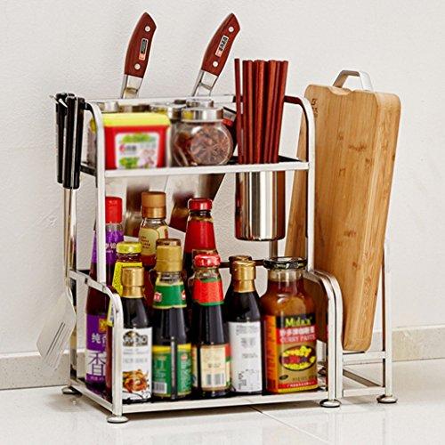 HWF Etagères de cuisine Étagères de cuisine en acier inoxydable Spice Rack Kitchen Supplies (Couleur : 30CM, Conception : B)