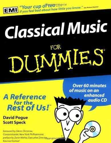 Classical Music For Dummies by Pogue, David, Speck, Scott (1997) Paperback
