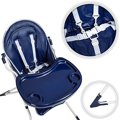 TecTake® Kinderhochstuhl Babyhochstuhl klappbar blau - 3