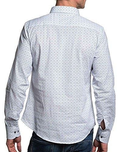 BLZ jeans - weißer Mann gemustertes Hemd Weiß