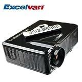 Excelvan Vidéoprojecteur LED HD Théâtre Domestique 720P-1080P Projecteur 3D TV Digital / HDMI / VGA/ USB / AV 3000 Lumens - Noir