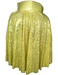 Childs Gold Sequin The King 1950s Rock n Roll Fancy Dress Cape Book Week UK