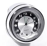 Lenkeruhr 1-1/4' 32mm Metall Chrom Big Motorrad Uhr großes Ziffernblatt Harley