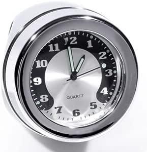 Lenkeruhr 1 1 4 32mm Metall Chrom Big Motorrad Uhr Großes Ziffernblatt Harley Auto