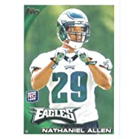 2010 Topps NFL Football Card # 344 Nate Allen RC - Philadelphia Eagles ( Rookie Card) NFL Trading Card