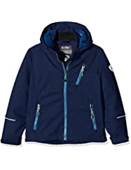 Killtec Soft shell chaqueta con capucha desmontable kuto, otoño/invierno, infantil, color dunkelnavy melange, tamaño 164