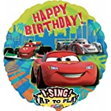 Sing-a-tune Cars 2 Happy Birthday Foil Balloon by Mayflower