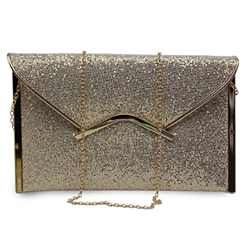 YYW Evening Bag, Poschette giorno donna Gold