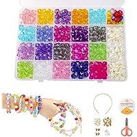 100 Stück Bunte Kinder Perlen Armbänder Stirnband Handwerk Perle für