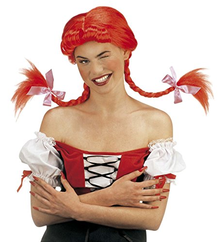Parrucca 'Naughty Girl' con Trecce Modellabili, Rossa