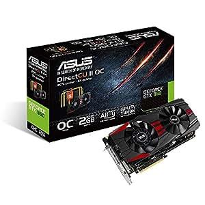 Asus GTX960 Black OC Edition - PCI Express Graphics Card ( 2GB GDDR5, 128-Bit, Core Clock 1279 MHz : Boost Clock 1342 MHz) -GTX960-DC2OC-2GD5-BLACK