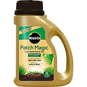 Evergreen Garden Care Ltd Miracle-Gro Patch Magic Grass Seed, Feed and Coir, Shaker Jar, 1015 g