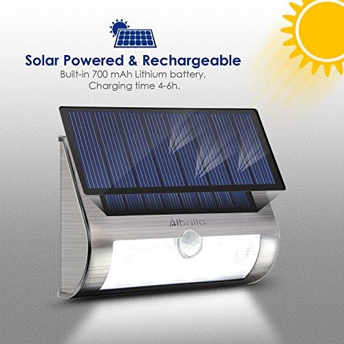 Albrillo Solarleuchten mit Bewegungsmelder, 2er-Pack, 18 LEDs in Kaltweiß - 3