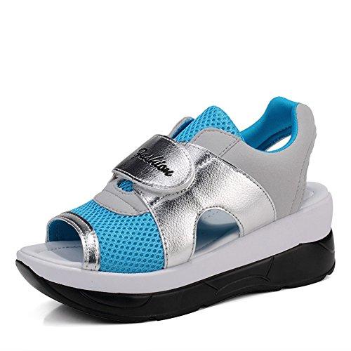 Lady secoue chaussures/Ladies mesh respirants sandales/Sandales à semelle épaisse plateforme/ladies haut sandales C