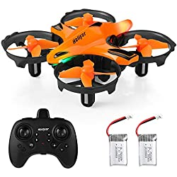 HELIFAR H803 Mini Drone, Drone Control Remoto con función de prevención de Infrarrojos, Control fácil de Gestos, Control de altitud, RC Drone para niños, Adultos, Dos baterías