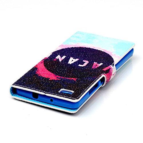 Voguecase® Pour Apple iPhone 5C Coque, Etui Housse Cuir Portefeuille Case Cover (nice day/doigt)de Gratuit stylet l'écran aléatoire universelle trou noir