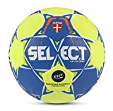 Select 1631654 Ballon de Handball Mixte Adulte, Bleu/Jaune, 2