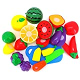 #9: FunBlast Realistic Sliceable Fruits Cutting Play Toy for Kids (Set of 15 Pcs PolyBag)