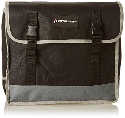 Dunlop Borsa per bici, doppio PES, Nero/Grigio