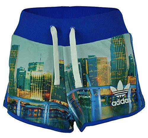 adidas Short MI AOP Skyline Originals Trefoil Damen Sport Shorts Mehrfarbig, Grösse:M - 40