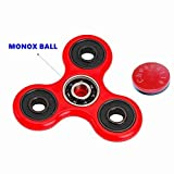 Tri Fidget Hand Spinner Toy,Stress Reducer Ultra Durable High Speed Ceramic Bearing Fidget Finger Toy Can Continue to Rotate for 1-3 minutes - Perfect for ADD / ADHD / Anxiety / Autism And Stress Relief Adult Children,Office Desk Gadget (Red)