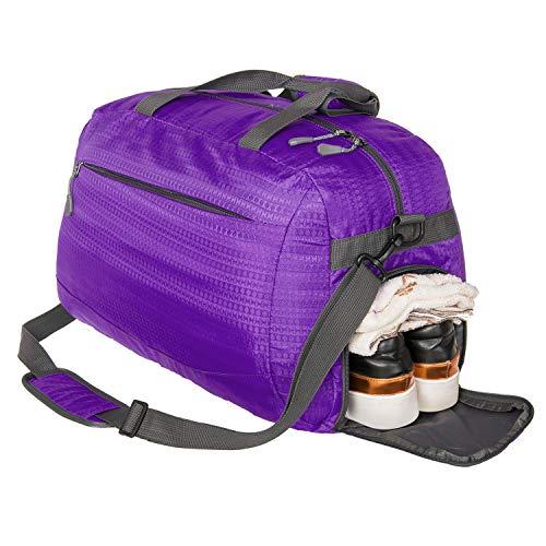 Coreal Unisex Sporttasche Handgepäck Tasche Reisetasche mit Schuhfach Lila