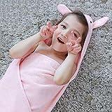 Pajamas Pyjama Anzug, Baumwolle mit Taschen Bademantel, Baumwolle Gaze Kind Strand Mantel mit Kappe Baby Badetücher Mantel Bademäntel Pyjamas, geeignet für 3-12 Jahre alt 90 * 90 cm (Langarm),/ 2