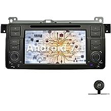 YINUO 7 Pulgadas 1 Din Android 7.1.1 Nougat 2GB RAM Pantalla Táctil GPS Navegador Reproductor de DVD Radio Para BMW 3 Series E46 M3 Soporte Bluetooth/Control Del Volante/AV-IN/1080p Con Cámara Trasera