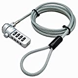 Storite ~ 2 Pack ~ Notebook Laptop combination security lock cable, 4 digit password protections, theft deterrent - with sturdy thick security cable for most notebooks, desktops, projectors