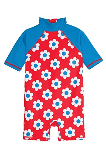 Frugi - UV-Schutz Kleidung für Kleinkinder, UPF 50+, Schutz vor UVA- und UVB-Strahlen, Verschiedene Designs (86/92, Einteiler Blümchen)