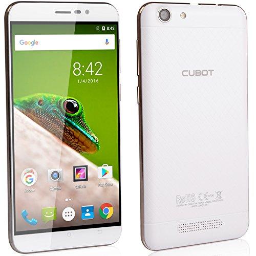 "CUBOT Dinosaur - Smartphone Libre 4G Android 6.0 (Pantalla táctil 5.5"" HD, Dual SIM, Cámara 13Mp, 4150mAh batería, 3GB Ram, Quad Core,1.3 GHz), color Blanco[ CUBOT OFICIAL ]"