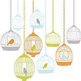 Wallpops - Pegatinas decorativas para pared (tamaño grande), diseño de jaulas con pájaros, multicolor