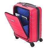 Business Reisekoffer M 55x38x22 cm Rot mit Laptop-Fach 15´´ Hartschale Koffer Bordgepäck Handgepäck Kabinen Trolley TSA Bowatex