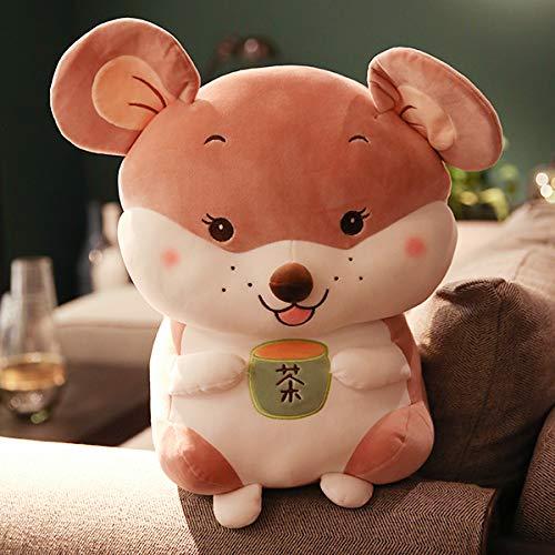 weiqiang Tazza da tè Gatto Bambola Topo Peluche Bambola Bambino Bambola Cuscino Regalo di Compleanno Femmina 20 cm C