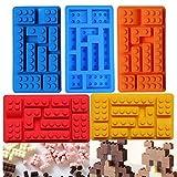 #5: 10 Holes Ice Cube Tray Cake Tools Fondant Moulds Lego Brick Blocks Shaped Rectangular DIY Chocolate Silicone Mold