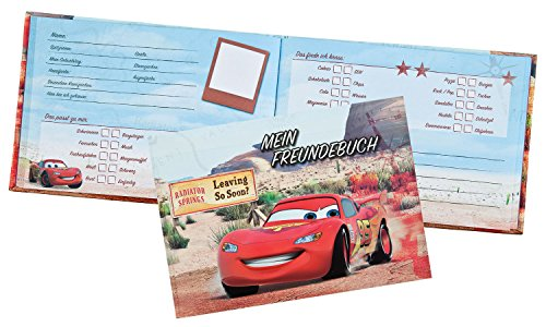 Undercover CAGR7293 Kindergartentasche, Disney Pixar Cars, ca. 21 x 22 x 8 cm Freundebuch A5