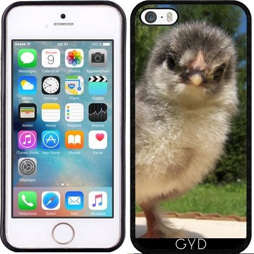 SilikonHülle für Iphone 5/5S - Lustiges Huhn Küken by Marina Kuchenbecker