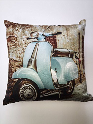 vespa-scooter-blue-square-cushion-cover-photographic-retro-vintage-43-x-43-new