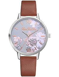 OHQ Relojes De Pulsera AnalóGicos De Cuarzo Causal De Flor Impresos De Silicona Reloj Manera Pulsera Reloj Inteligente Marcar El Reloj Reloj ElectróNico