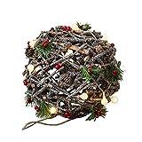 Weihnachten Dekorative LED Glitter Ball Nest mit Pine Cones und Berry, Batterie betrieben (Batterie Nicht Inbegriffen, Sparkling Winter)