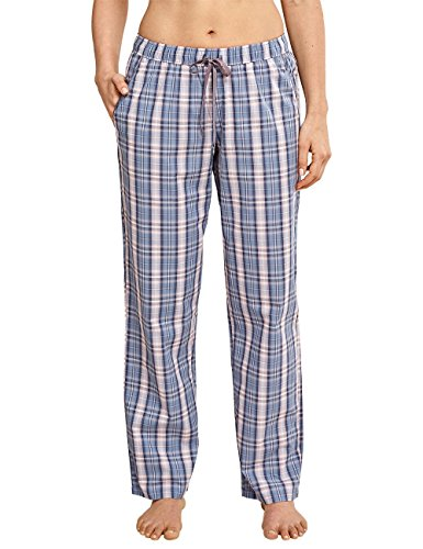 Schiesser Damen Mix&Relax Webhose lang Schlafanzughose, Blau (jeansblau 816), 48 -