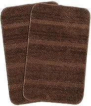 Saral Home Bath Mat (Brown, Microfiber, 35X50 CM), Set of 2