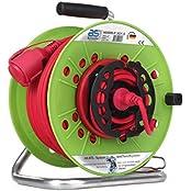 as - Schwabe ATS-Sicherheits-Gerätetrommel Rasenmäher Trommel, 25 m Kabel H05RR-F 3G1.5, rot, IP44 Aussenbereich, 12536