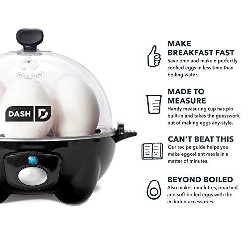 5112jybU94L. SS500  - Dash Rapid Egg Cooker, Black