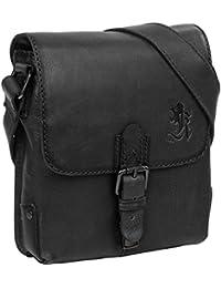 cf7e2665b9 OTTO KERN Men's shoulder bags Amadeo 2 small, Cow Vintage burnt edge, black
